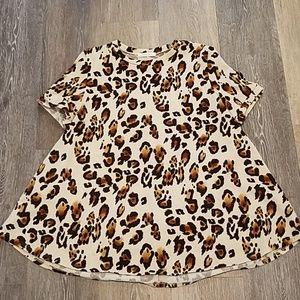 Entro Leopard Print Swing Top